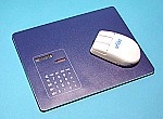 Mouse pad with currency  calculator