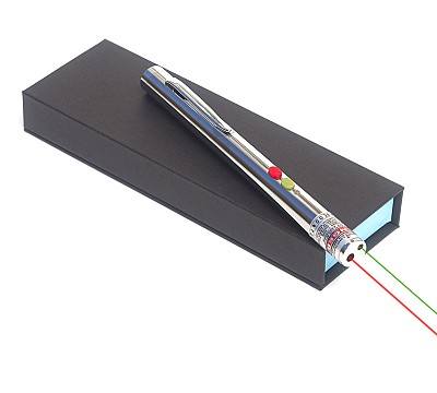 Integrated Green and Red Laser Pointer